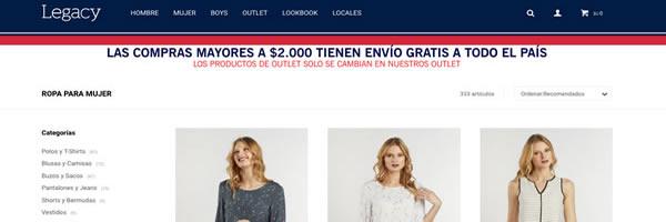 legacy tienda online